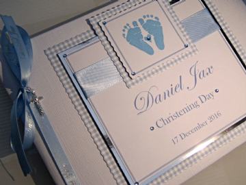 Baby Boys Christening Guest Book